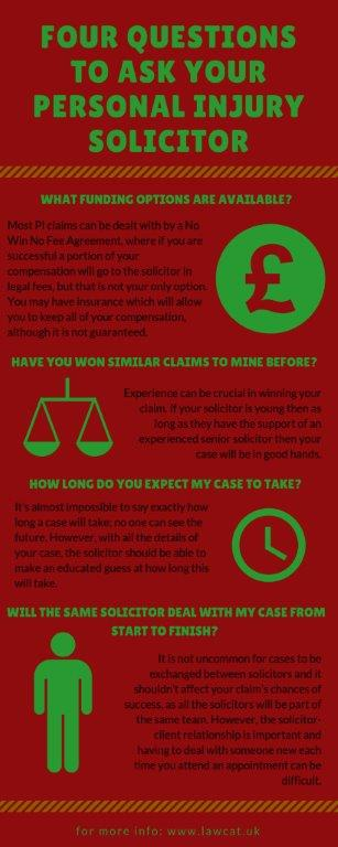 five questions to ask your personal injury solicitor